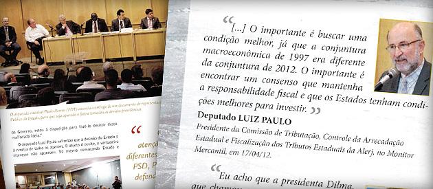 Luiz Paulo é destaque em publicações