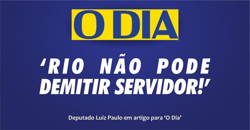 Rio não pode demitir servidor